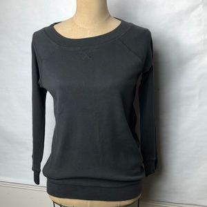 J. Crew 3/4 sleeve Charcoal gray sweatshirt